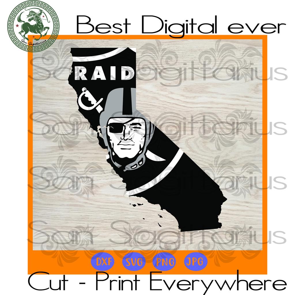 Oakland Raiders NFL Logo map SVG Files For Cricut