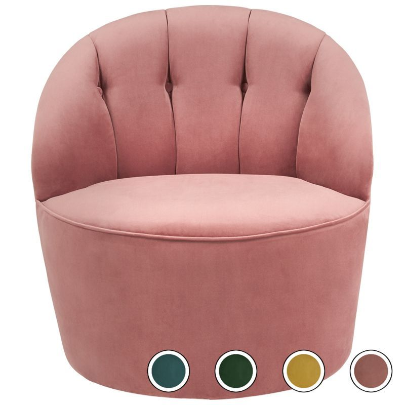 Cool Margot Swivel Accent Chair Old Rose Velvet Products Dailytribune Chair Design For Home Dailytribuneorg