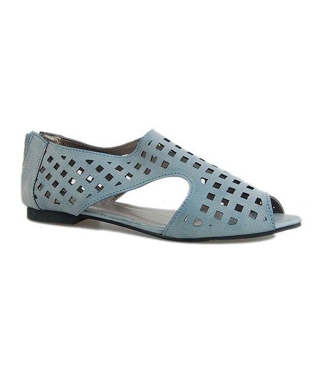 84cb9df09ec Peep Toe Sandals with Cutwork Details Cuero