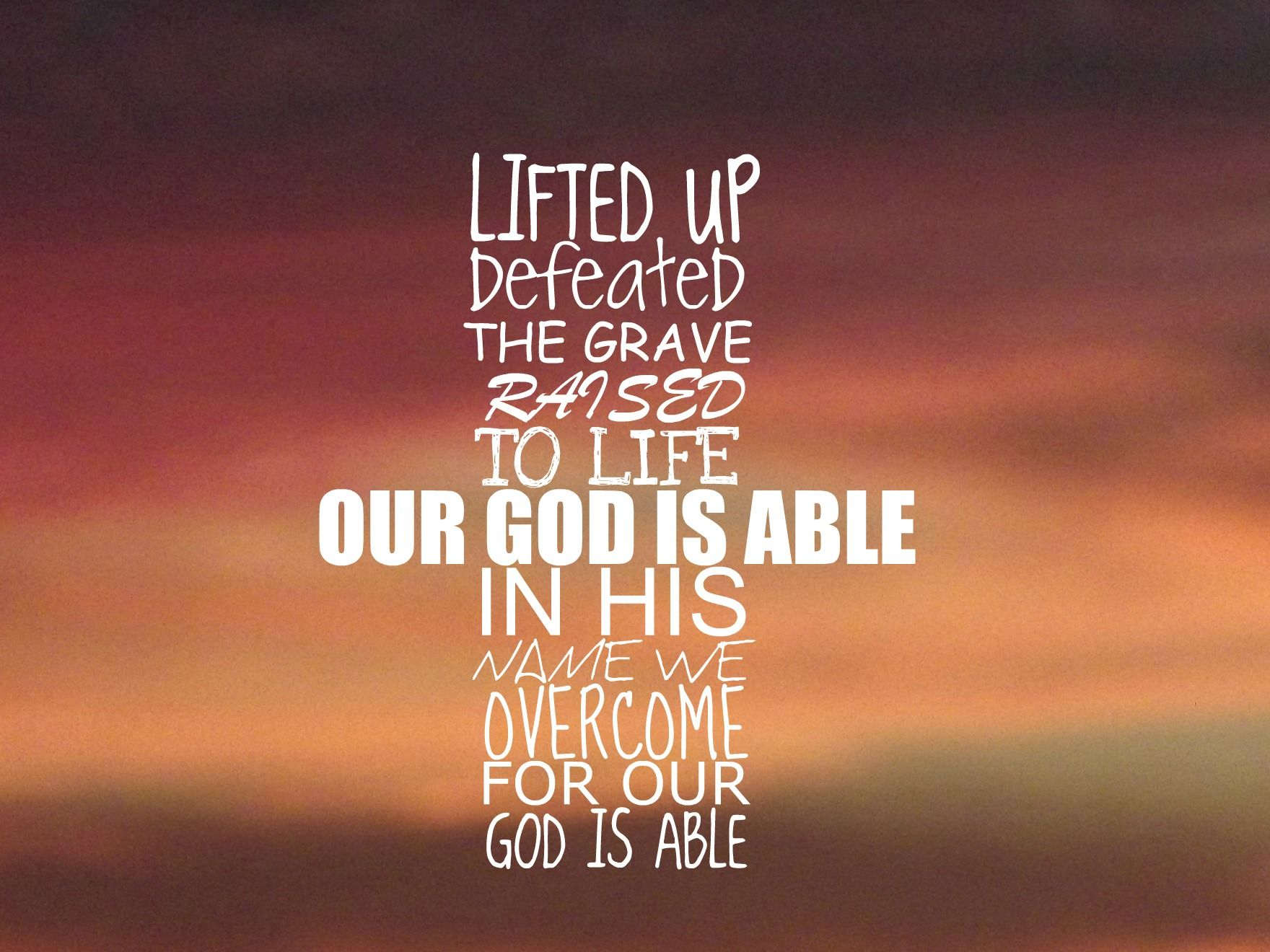 Our god is able hillsong lyrics