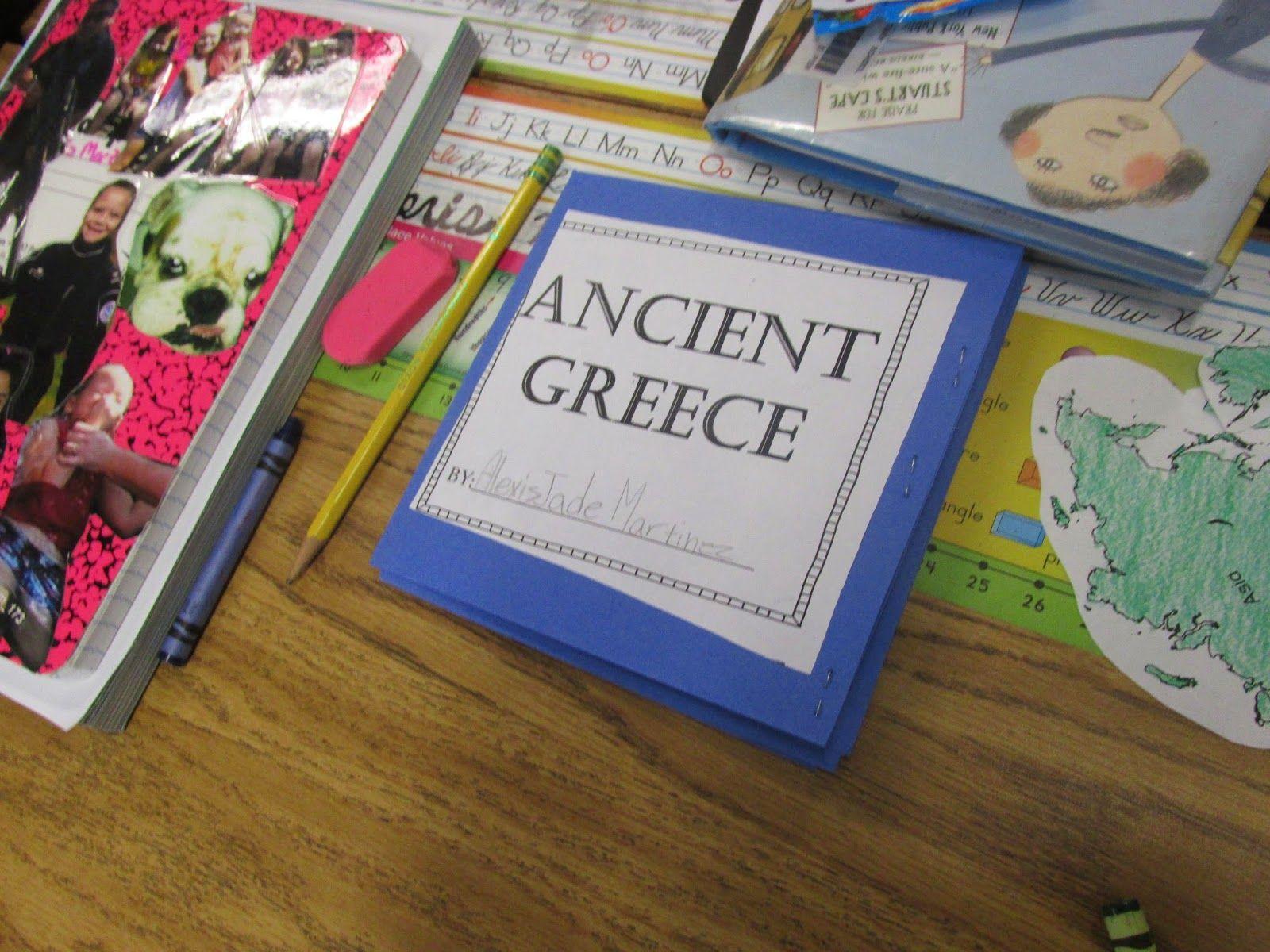Ancient Greece A Main Idea And Details Flip Flap Book
