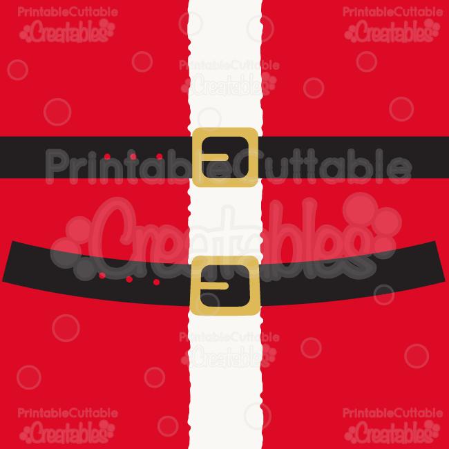 "YOU WILL RECEIVE: ""Santa's Belt"" SVG Cut File & Clipart ..."