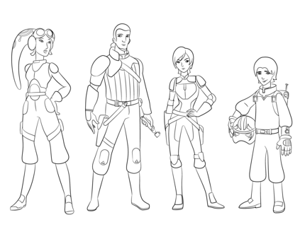 Star Wars Rebels Characters coloring