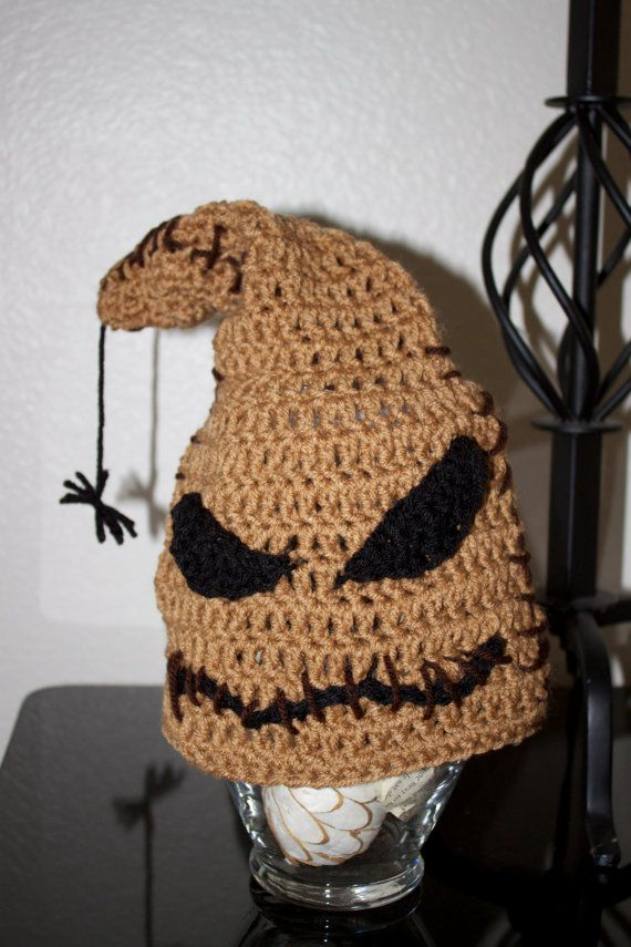 6ce0c7637c117 Crochet Nightmare Before Christmas Oogie Boogie Inspired Beanie Made to  Order (Newborn to Adult sizes)