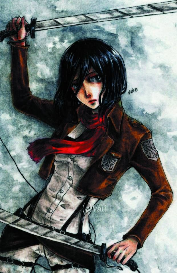 There are sooo many talented artists at PaigeeWorld  Drawing by bluepierrot - #mikasa #shingeki #snk #fanart - http://modo.ly/VWqwwi