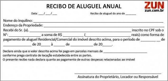Recibo De Aluguel Comercial Modelo Online Doc Simples