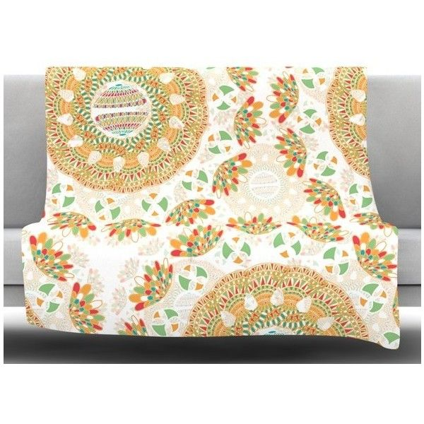 """Bohemian Bright by Miranda Mol Fleece Blanket Size: 40"""" L x 30"""" W ($68) ❤ liked on Polyvore featuring home, bed & bath, bedding, blankets, fleece blanket, boho bedding, plush bedding, rabbit bedding and boho style bedding"""