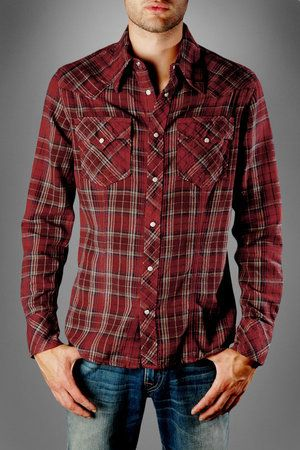 True Religion Men's Plaid Flannel Western Shirt - Celebrities who ...