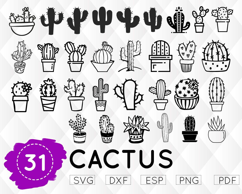 Download CACTUS SVG, cactus monogram svg, cactus clipart, cactus ...