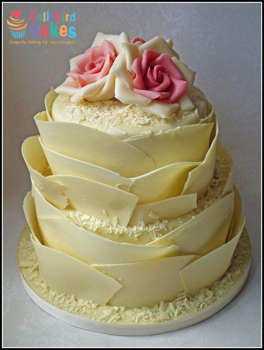 Rustic \'Jenny\' White Chocolate Wedding Cake | Cakes & Cake ...