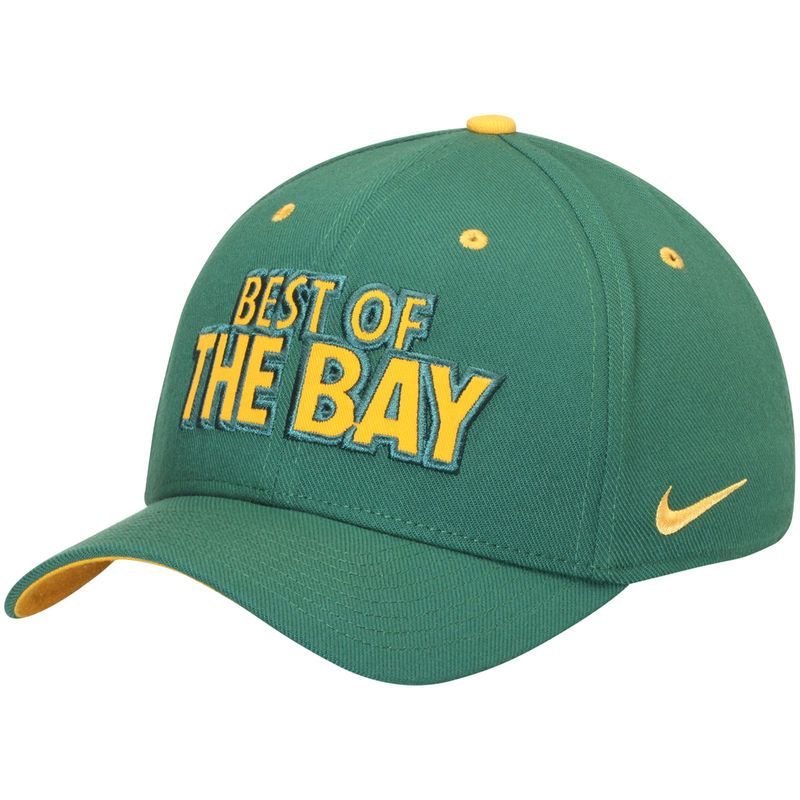 Oakland Athletics Nike Local Classic Swoosh Performance Flex Hat - Green 6d71b94f5879