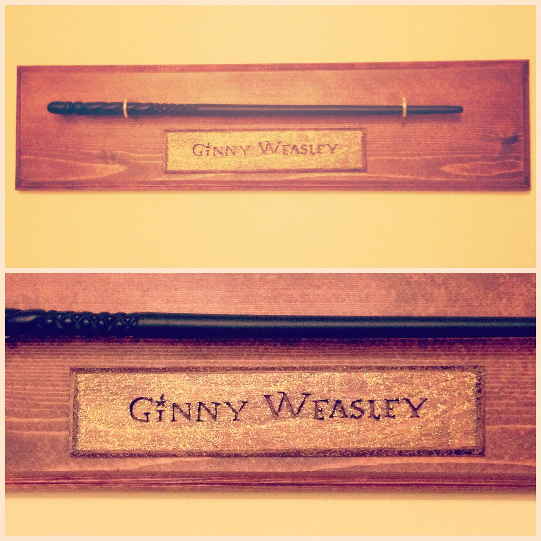 Custom-made display for my Ginny Weasley wand from Wizarding World ...