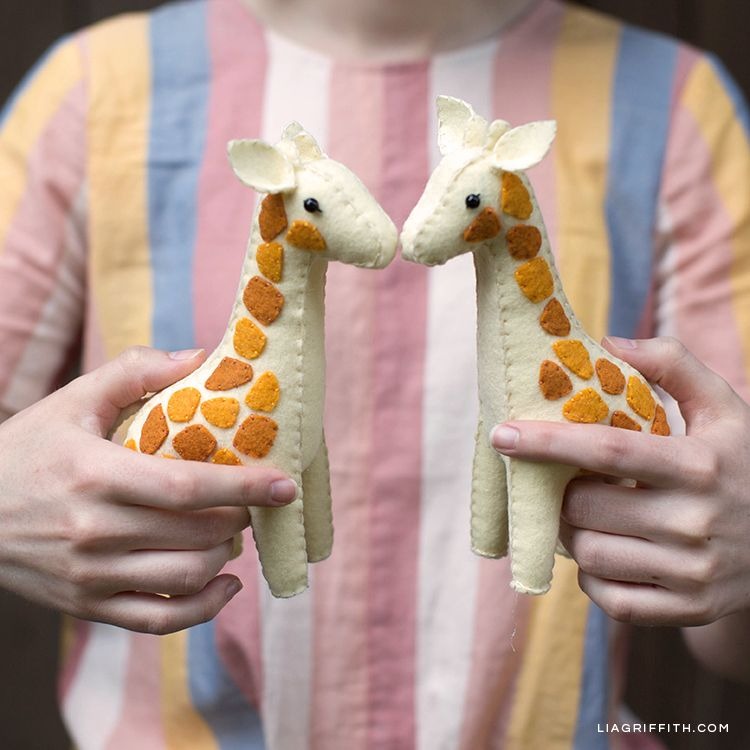 How to Make These Handsewn Felt Giraffes - Lia Griffith