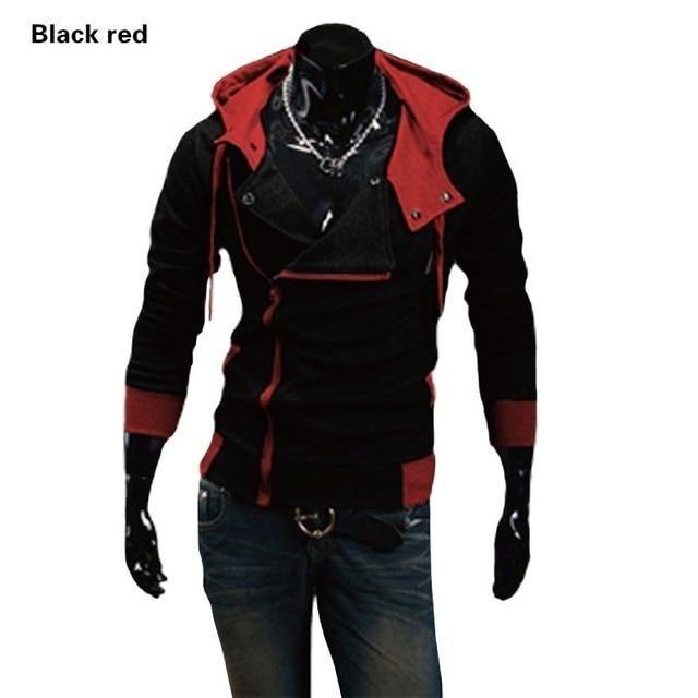 Photo of Swagwhat 2019 Zipper Cardigan Hoodies Men Fashion Hooded Sweatshirts Spring Spring Sportswear Long Sleeve Slim Tracksuit Jacket – Black Red / 4XL