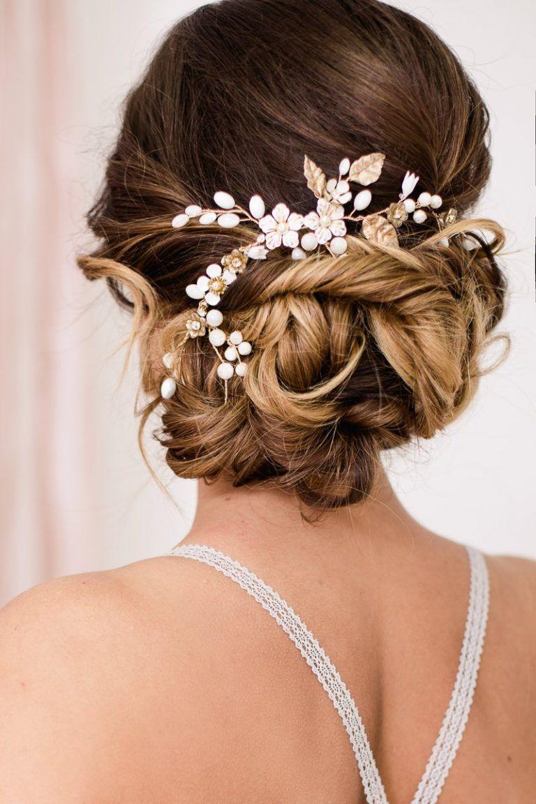 Romantisches Braut Boudoir  Brautfrisur, Haarschmuck hochzeit