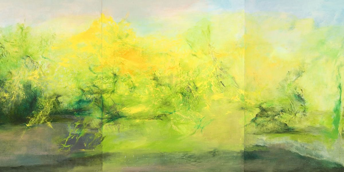 Zao Wou Ki Widewalls Abstract Landscape Modern Abstract Painting
