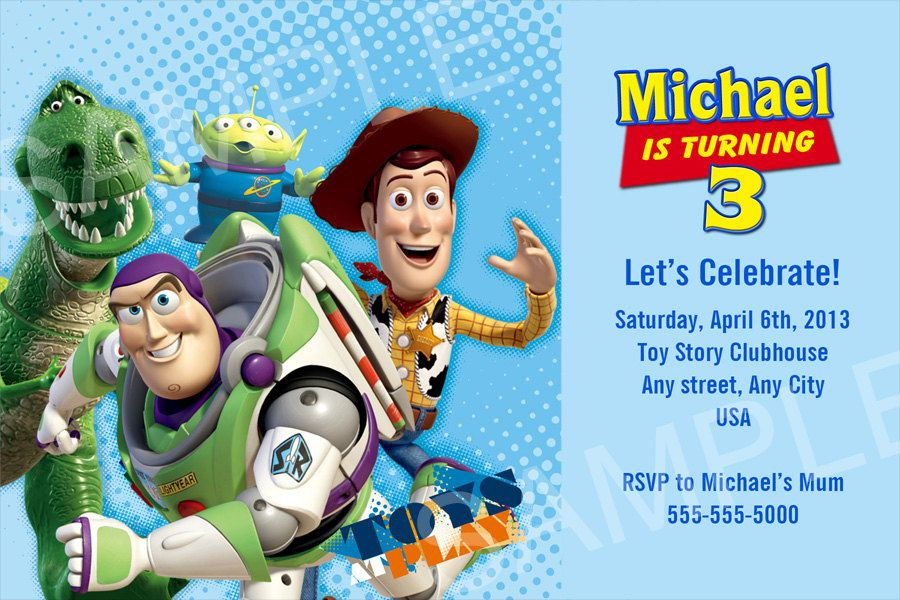 Nice free template personalized toy story birthday for Toy story invites templates free