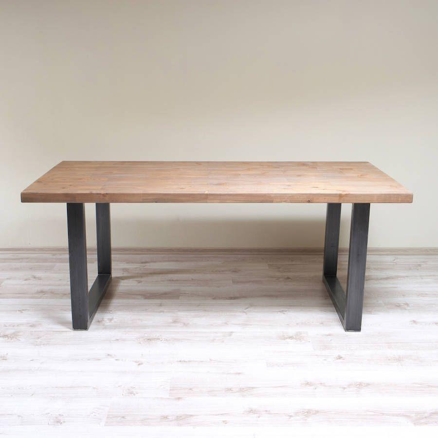 Holborn Tile U Shaped Legs Industrial Dining Table Industrial Style Dining Table Dining Table Industrial Style