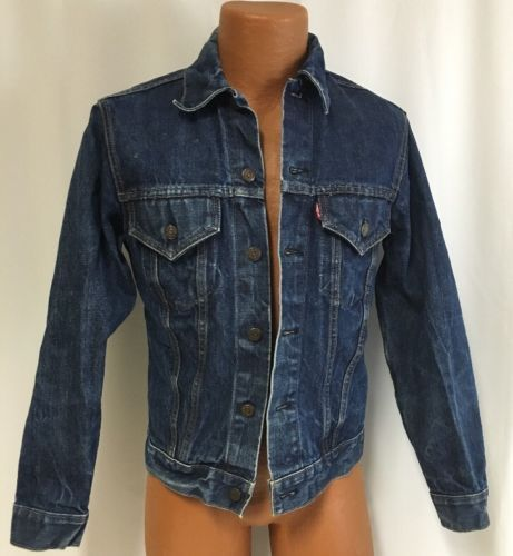 Vintage-Levi-039-s-Trucker-III-Jean-Jacket-36-Denim-Men-039-s-USA-Stiff-Retro-Coat-Layer