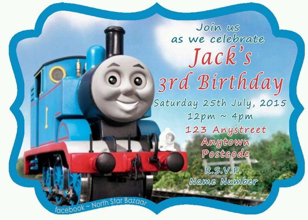 Magnetic birthday invitations thomas the tank pack of 24 kids party magnetic birthday invitations thomas the tank pack of 24 kids party filmwisefo Choice Image