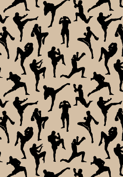 Muay Thai Fighters On Fabric Wallpaper And Gift Wrap Perfect Muay