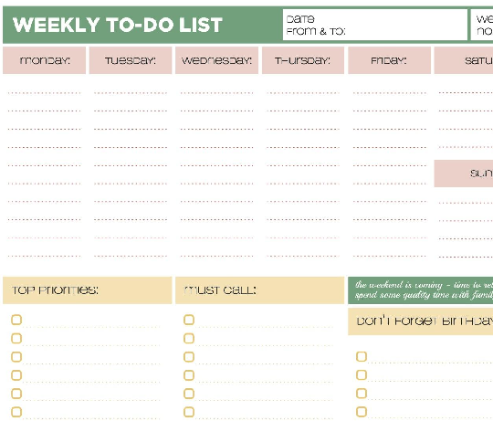To Do List Template  Google Search  Want