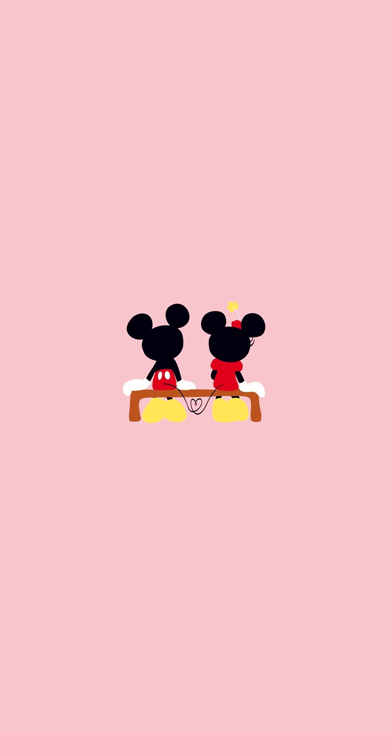Wallpaper iphone mickey mouse - Wallpaper Mickey Mouse And Minnie Mouse Image On We Heart It