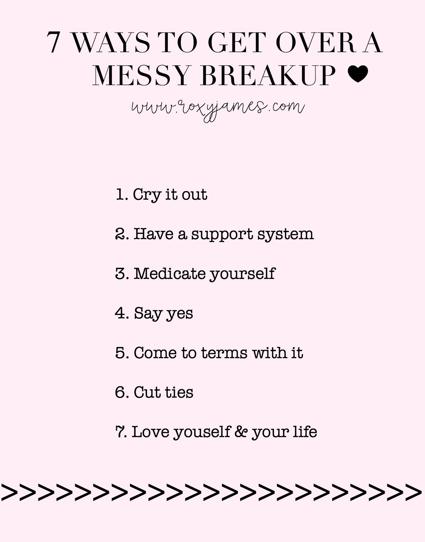 To Out Breakup Get How Of