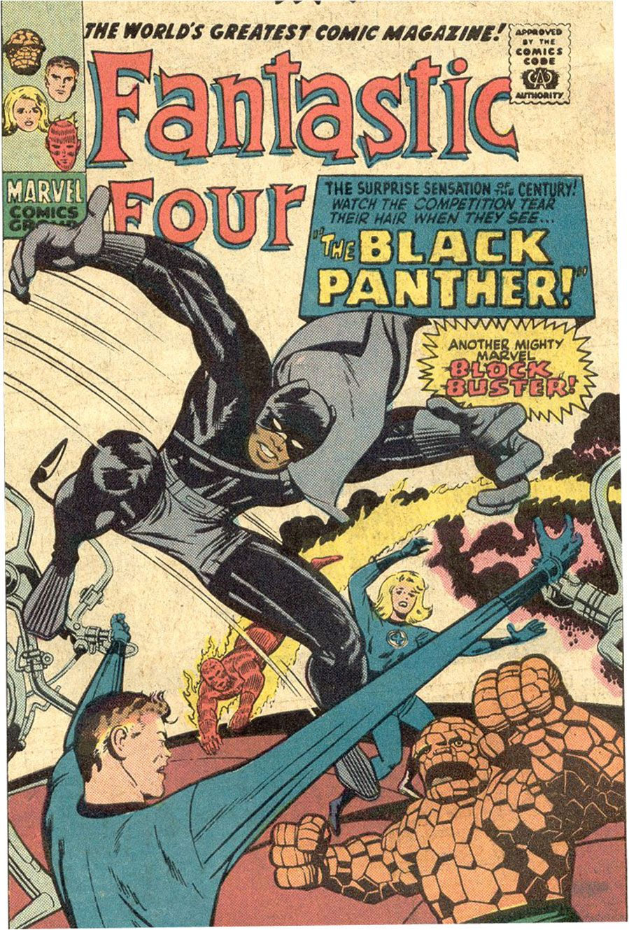 The Black Panther 1st Appearance Comic Book Covers Marvel