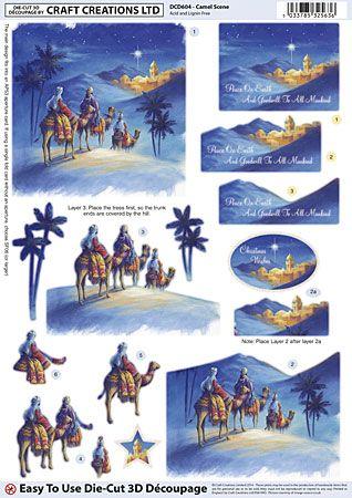 Camel Scene die-cut découpage – DCD604