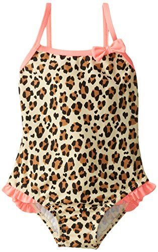 91de3845e69e0 Osh Kosh Little Girls Toddler Animal Print One Piece Swimsuit Leopard 3T **  You can find more details by visiting the image link.