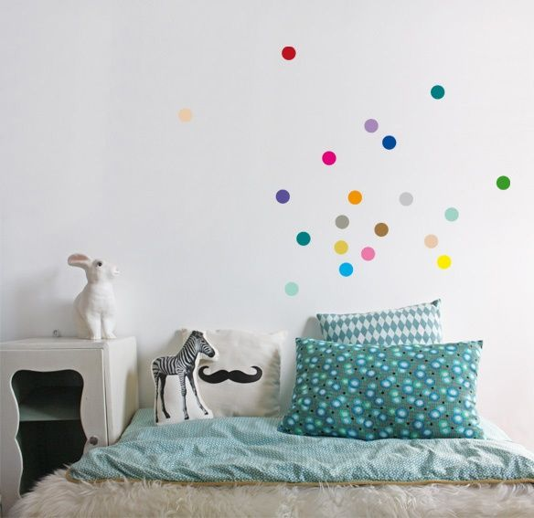 Confetti muurstickers multicolour | Accessoires | Je suis petit