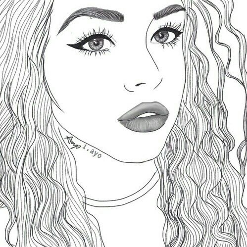 28 Collection Of Tumblr Outline Coloring Pages High Quality Download Free Best Quality On Clipart Email Tumblr Outline Outline Drawings Girl Outlines