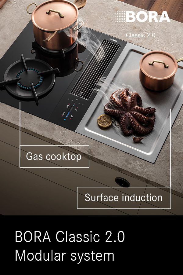 Bora Offers A Wide Range Of Cooktops From Surface Induction To Wok Or Tepan Stainless Steel Grill Which Can Be Freely Combined With The Extraction System Comb