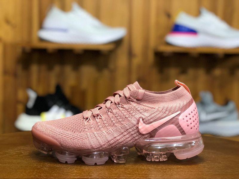 6b5fa2dc8b5 2018 Nike Air Vapormax Flyknit 2.0 Womens Sneaker Pink 942843-600 ...