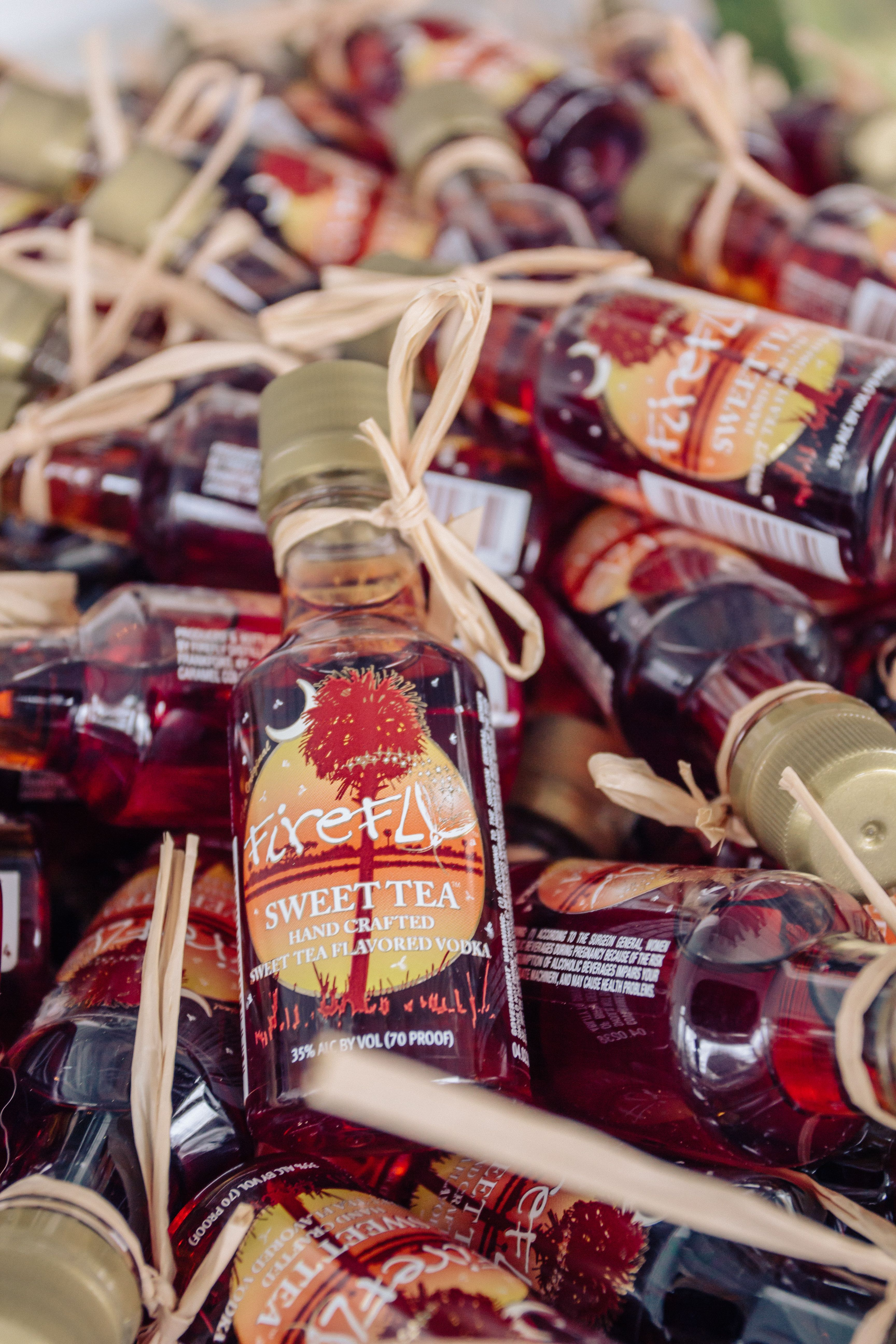 Firefly mini bottles are an awesome favor for a Lowcountry wedding ...