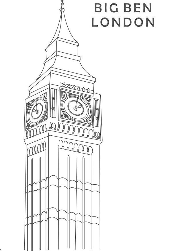 Beautiful Clock Tower Big Ben Coloring Page Coloring Sun Coloring Pages Big Ben Big Ben Clock