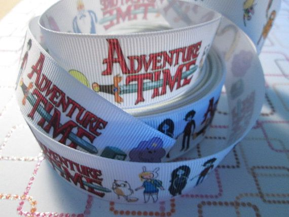1 Adventure Time Ribbon for Sewing/Garment/DIY by Mommacrafters, $1.00