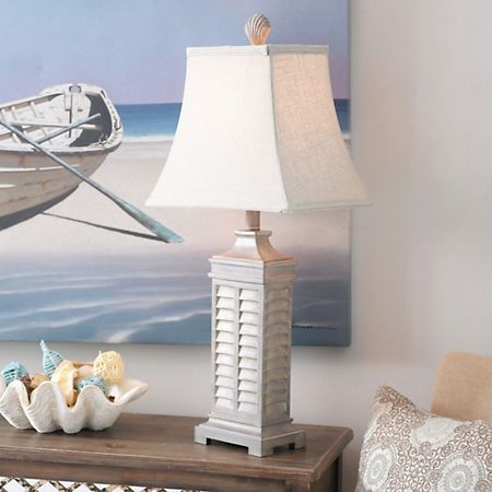 Gray Coastal Shutter Table Lamp | Shutter table, Shutters and Table ...