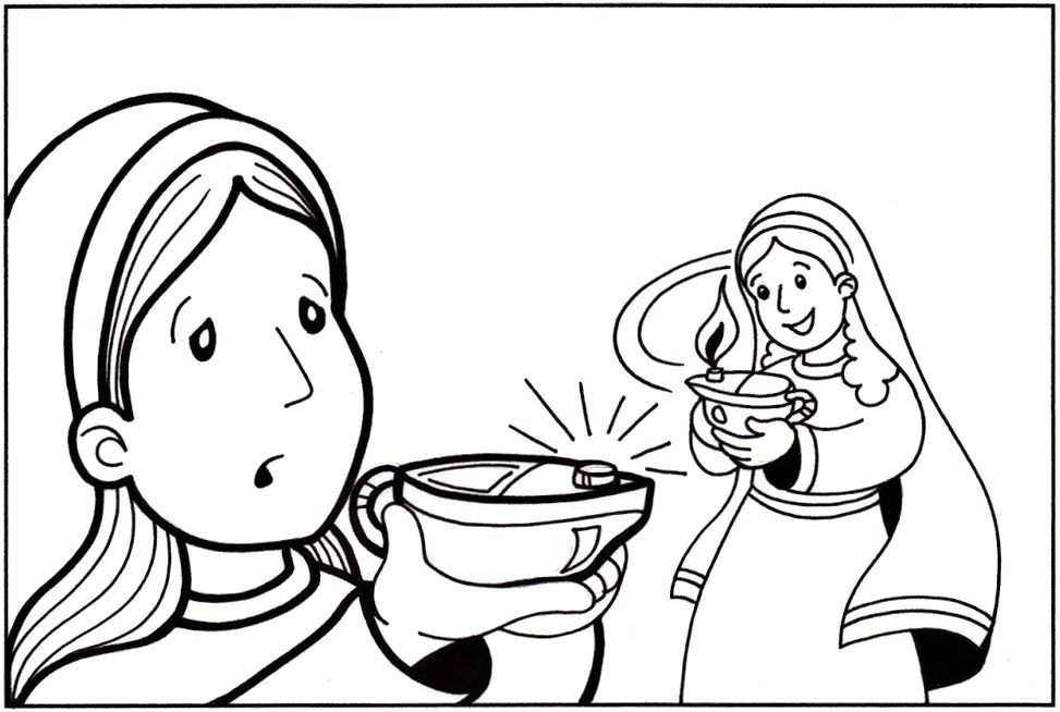 coloring pages 10 virgins - photo#12