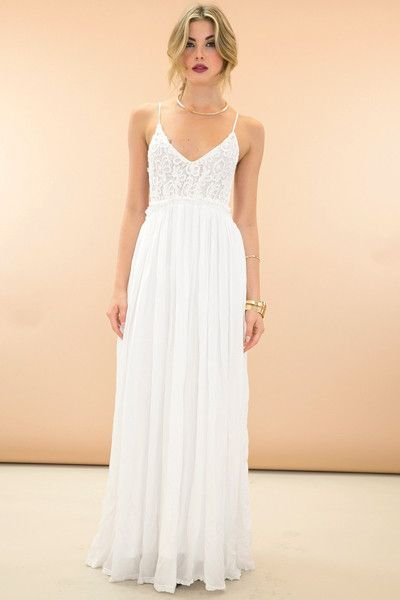 d5f4f7ebaa7 Something Special Crochet Maxi Dress - White