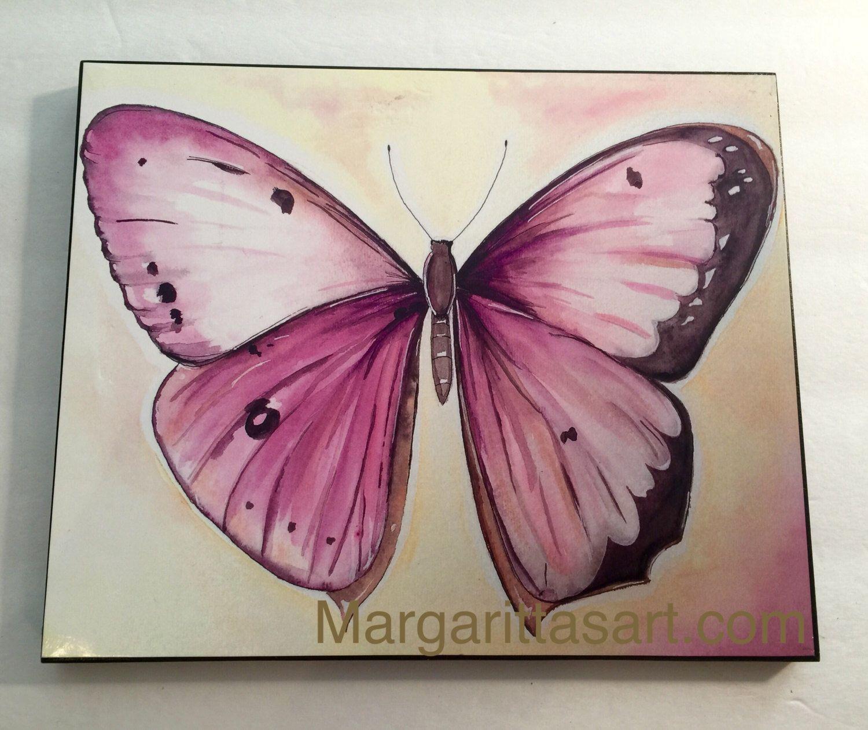 Pink Butterfly print,nature art,framed art,modern home decore,wall ...