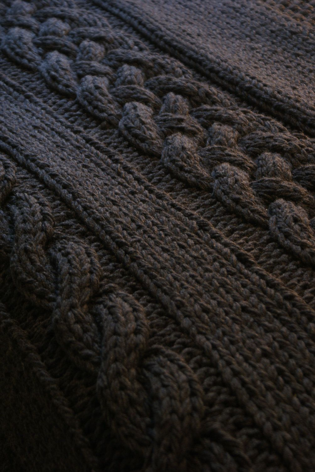Throw Blanket / Rug Super Chunky Double Cable Approximately 49\