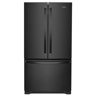 Whirlpool 25.2-cu ft 3-Door French Door Refrigerator (Black) ENERGY ...
