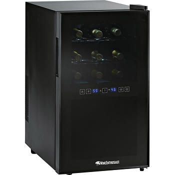 Wine Enthusiast Silent 18-Bottle Dual Zone Touchscreen Wine Cooler ETL Approved