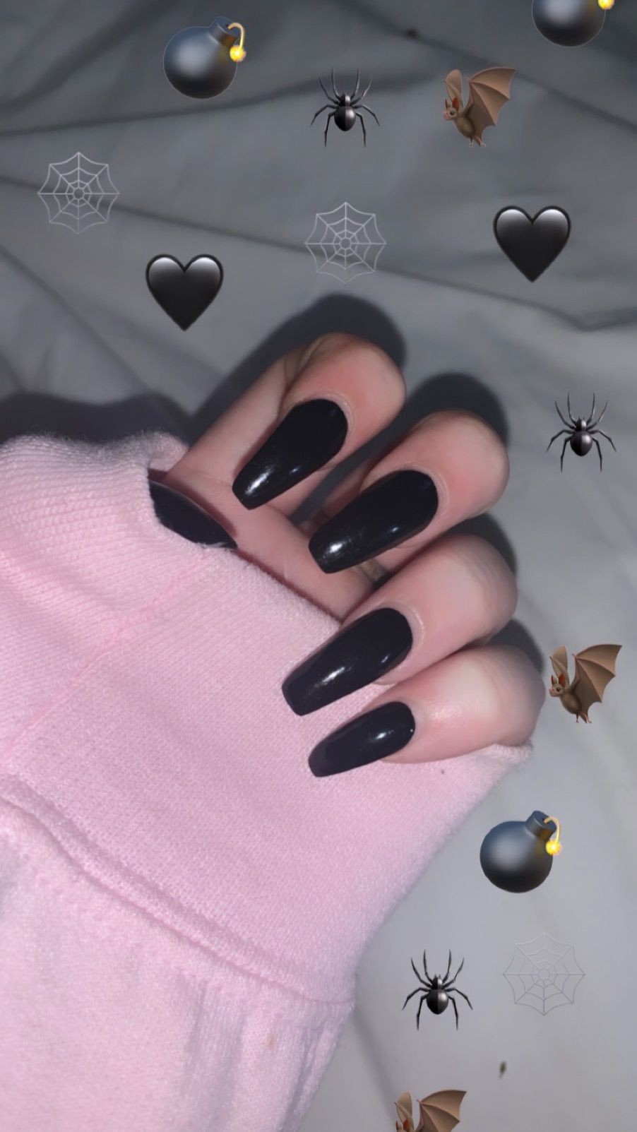 Black Acrylic Nails Aesthetic By Me Black Acrylic Nail Designs Black Acrylic Nails Wedding Acrylic Nails