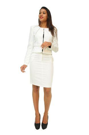 1fdba6c67cd95 Ensemble tailleur femme pas cher jupe catherine blanche v77a sk528 ...