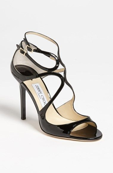 Free shipping and returns on Jimmy Choo 'Lang' Sandal at Nordstrom.com. Liquid-shine curves kiss at the vamp of a strappy sandal cast in an essential neutral hue.