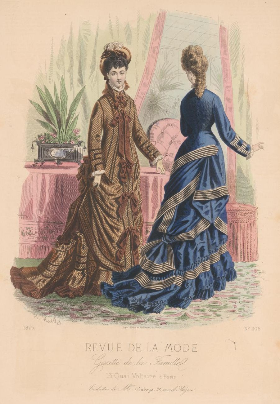 revue de la mode 1875 1875s fashion plates pinterest victorian bustle and victorian fashion. Black Bedroom Furniture Sets. Home Design Ideas