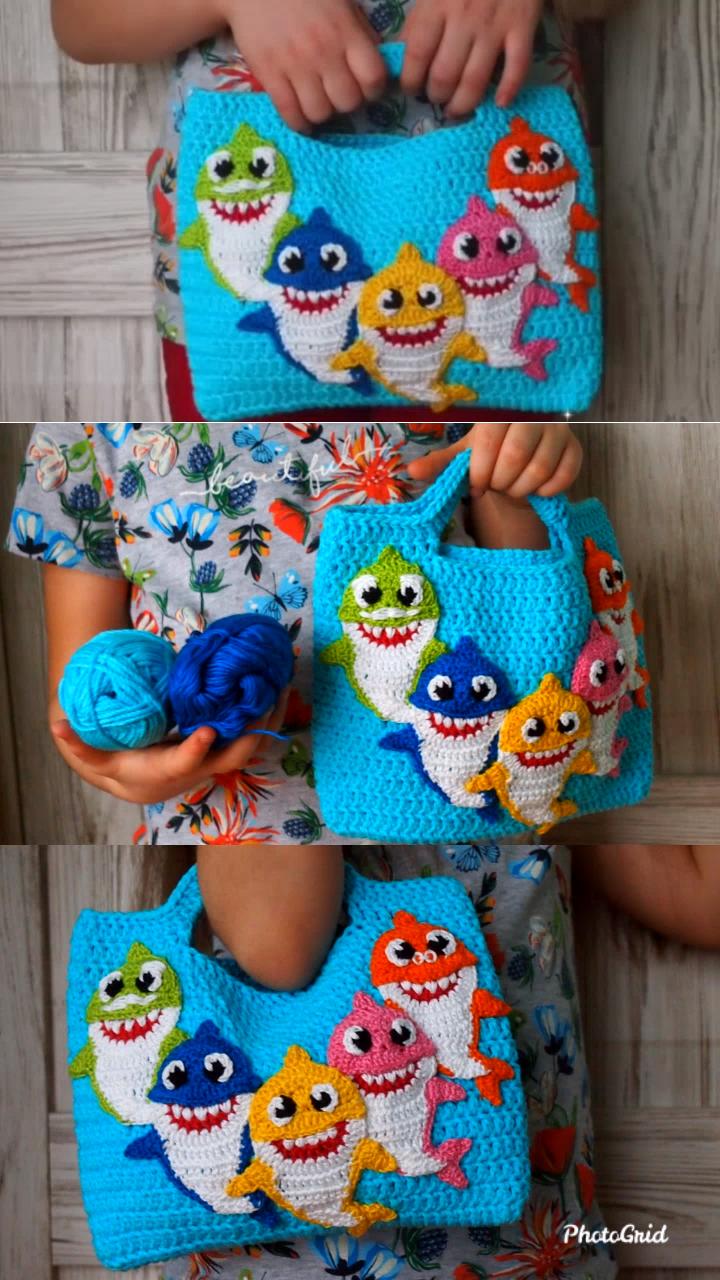 Photo of Sharks Handbag Free crochet pattern